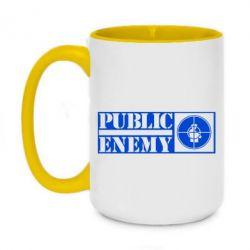 Кружка двоколірна 420ml Public Enemy