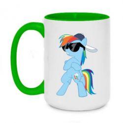 Кружка двоколірна 420ml Rainbow Dash Cool - FatLine