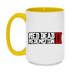 Кружка двоколірна 420ml Red Dead Redemption logo