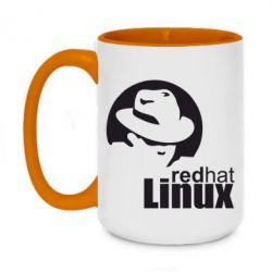 Кружка двоколірна 420ml Redhat Linux