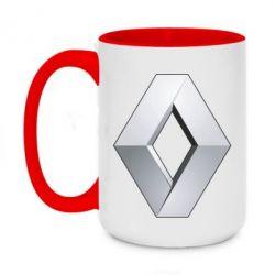 Кружка двоколірна 420ml Renault Logo