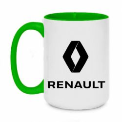 Кружка двоколірна 420ml Renault logotip