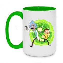 Кружка двоколірна 420ml Rick and Morty art