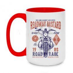 Кружка двоколірна 420ml Roadway Bastard