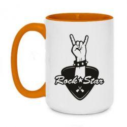 Кружка двоколірна 420ml Rock star gesture