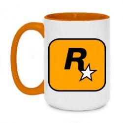 Кружка двоколірна 420ml Rockstar Games logo