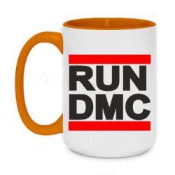 Кружка двухцветная 420ml RUN DMC - FatLine