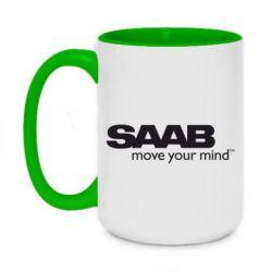 Кружка двоколірна 420ml SAAB