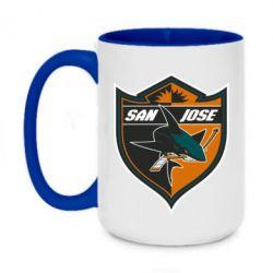 Кружка двоколірна 420ml San Jose Sharks