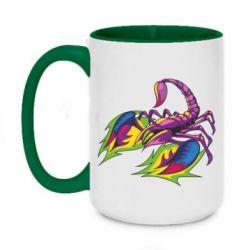Кружка двоколірна 420ml Scorpion tattoo