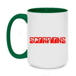 Кружка двоколірна 420ml Scorpions
