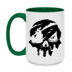 Кружка двоколірна 420ml Sea of Thieves skull