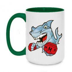 Кружка двоколірна 420ml Shark MMA
