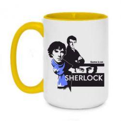 Кружка двухцветная 420ml Sherlock (Шерлок Холмс)