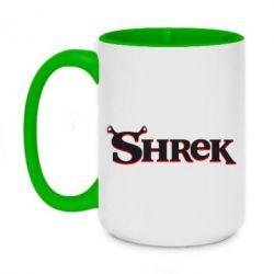 Кружка двухцветная 420ml Shrek