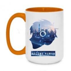 Кружка двоколірна 420ml Silhouette City Detroit: Become Human