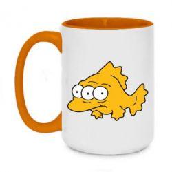 Кружка двухцветная 420ml Simpsons three eyed fish - FatLine