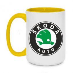 Кружка двоколірна 420ml Skoda Small