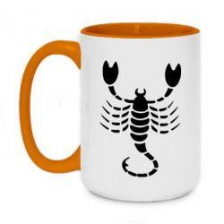 Кружка двухцветная 420ml скорпион