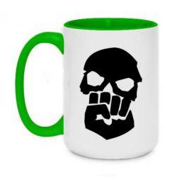 Кружка двухцветная 420ml Skull and Fist