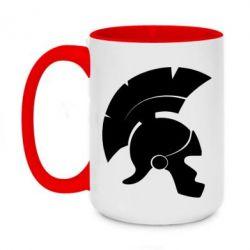 Кружка двухцветная 420ml Spartan helmet