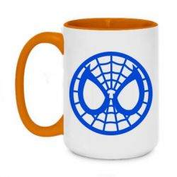 Кружка двухцветная 420ml Спайдермен лого