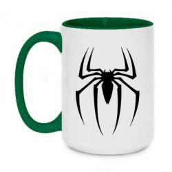 Кружка двухцветная 420ml Spider Man Logo - FatLine