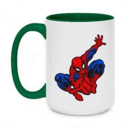 Кружка двухцветная 420ml Spiderman - FatLine