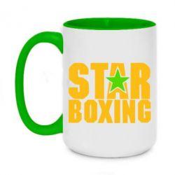 Кружка двухцветная 420ml Star Boxing