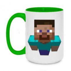 Кружка двухцветная 420ml Steve from Minecraft