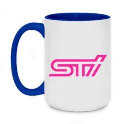 Кружка двухцветная 420ml STI Logo