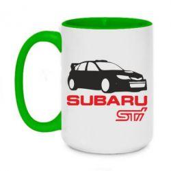 Кружка двухцветная 420ml Subaru STI