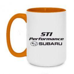 Кружка двоколірна 420ml Subaru STI