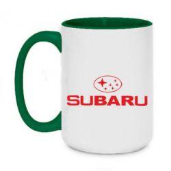 Кружка двоколірна 420ml Subaru