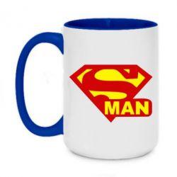 Кружка двухцветная 420ml Super Man