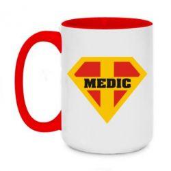 Кружка двоколірна 420ml Super Medic