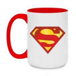 Кружка двухцветная 420ml Superman Classic