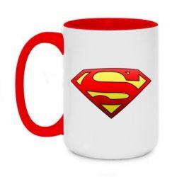 Кружка двухцветная 420ml Superman Logo