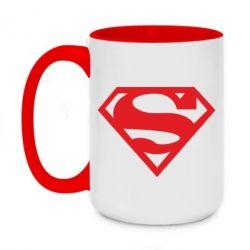 Кружка двухцветная 420ml Superman одноцветный