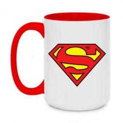 Кружка двухцветная 420ml Superman Symbol
