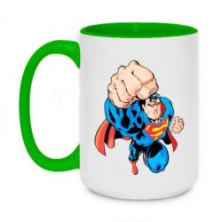 Кружка двоколірна 420ml Супермен Комікс