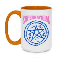 Кружка двухцветная 420ml Supernatural круг - FatLine