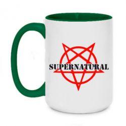 Кружка двухцветная 420ml Supernatural