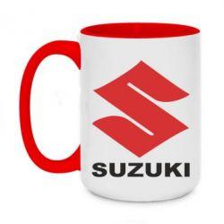 Кружка двухцветная 420ml Suzuki