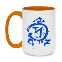 Кружка двухцветная 420ml Сверхъестественное логотип - FatLine