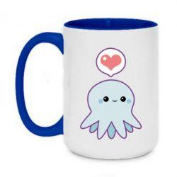 Кружка двухцветная 420ml Sweet Octopus