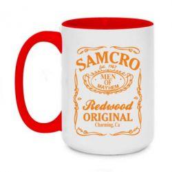 Кружка двухцветная 420ml Сыны Анархии Samcro