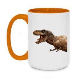 Кружка двоколірна 420ml T-rex in profile