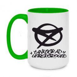 Кружка двухцветная 420ml Tankograd Underground Logo