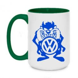 Кружка двоколірна 420ml Тасманійський диявол Volkswagen